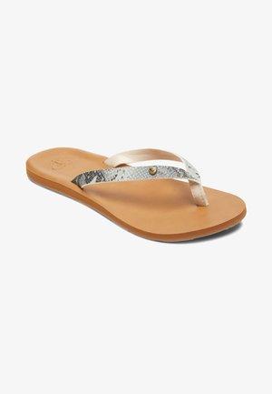 ROXY™ JYLL - SANDALEN FÜR FRAUEN ARJL200751 - Sandály s odděleným palcem - white/snake