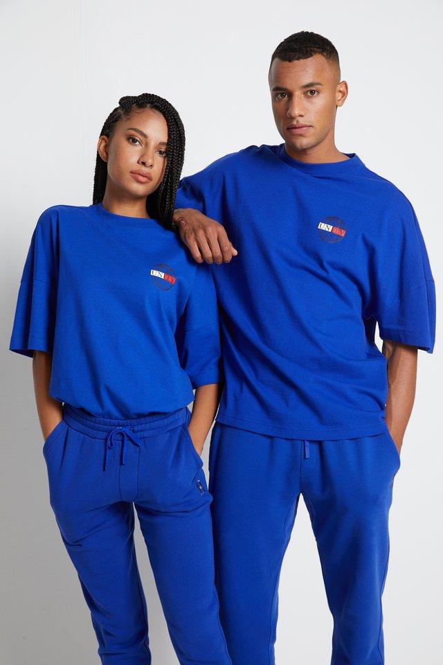LEWIS HAMILTON OVERSIZED UNITY GLOBE TEE - T-shirt print - sapphire blue