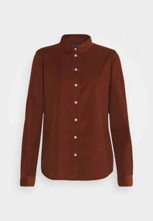 Button-down blouse - chestnut brown