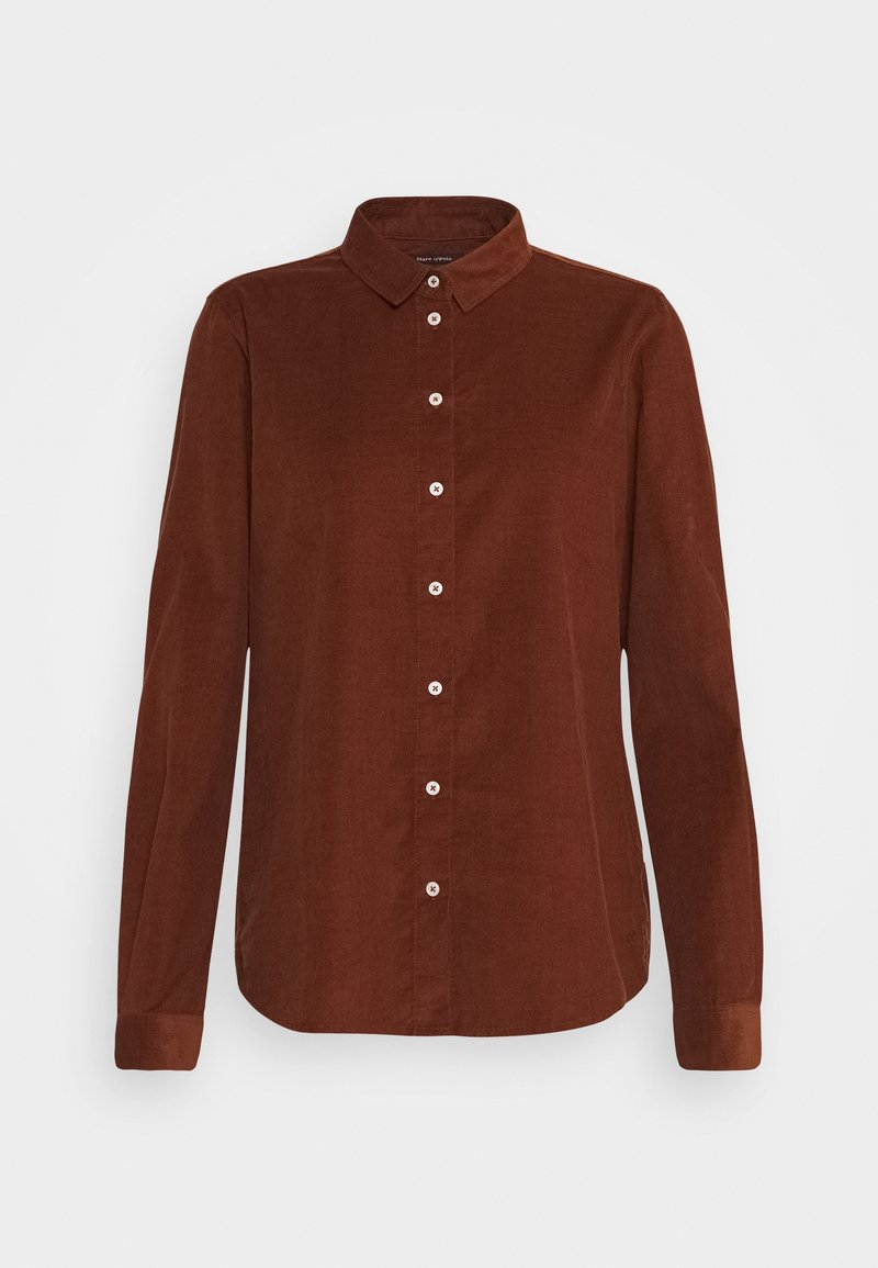 Marc O'Polo - Button-down blouse - chestnut brown