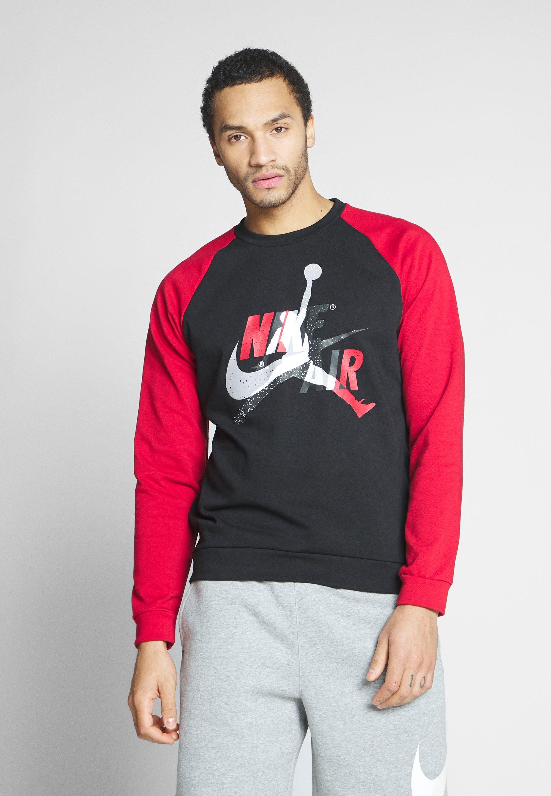Korkealaatuinen Halpa Miesten vaatteet Sarja dfKJIUp97454sfGHYHD Jordan JUMPMAN CREW Collegepaita black/gym red