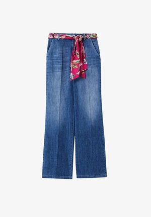 PALAZZO - Flared Jeans - blue denim