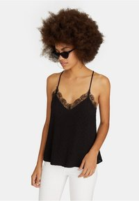 Stradivarius - Top - black - 0