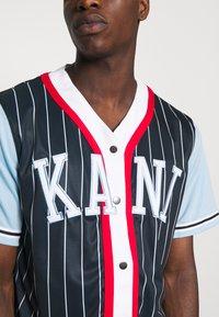 Karl Kani - COLLEGE BLOCK PINSTRIPE BASEBALL SHIRT - Shirt - navy - 5