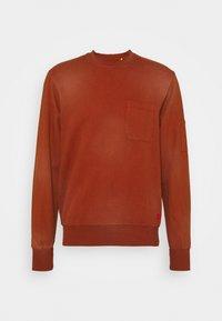 Caterpillar - HEAVY WASHED POCKET - Sweatshirt - rust - 0