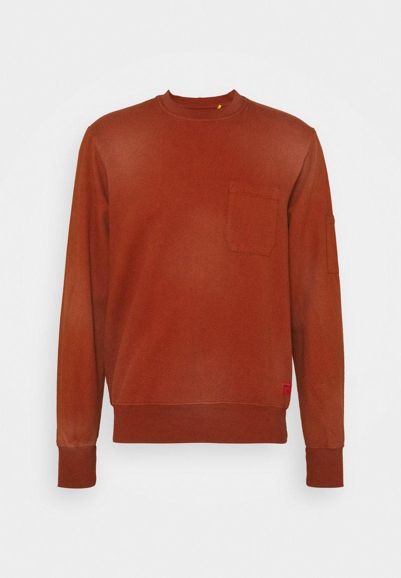 Caterpillar - HEAVY WASHED POCKET - Sweatshirt - rust