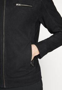 Selected Homme - CLASSIC JACKET  - Leather jacket - black - 2