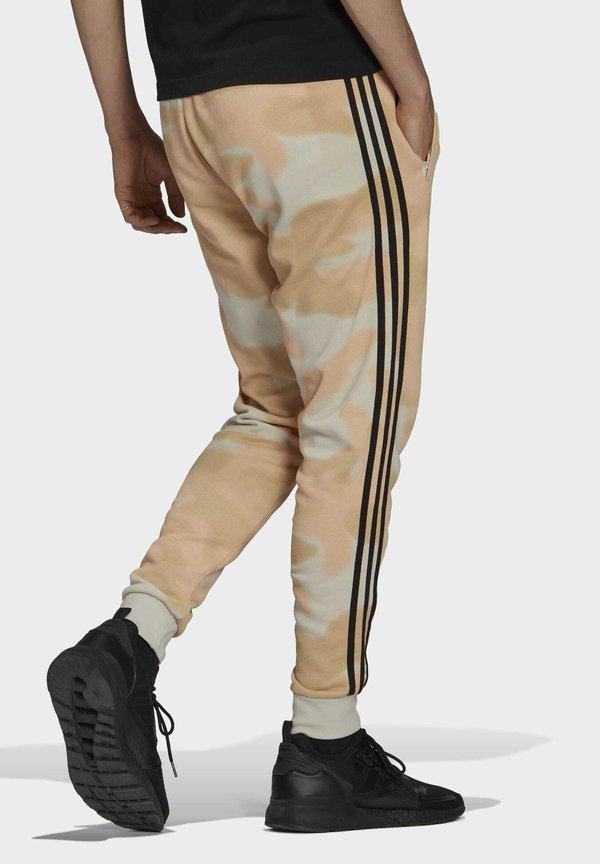 adidas Originals Spodnie treningowe - beige/szary Odzież Męska GLWS