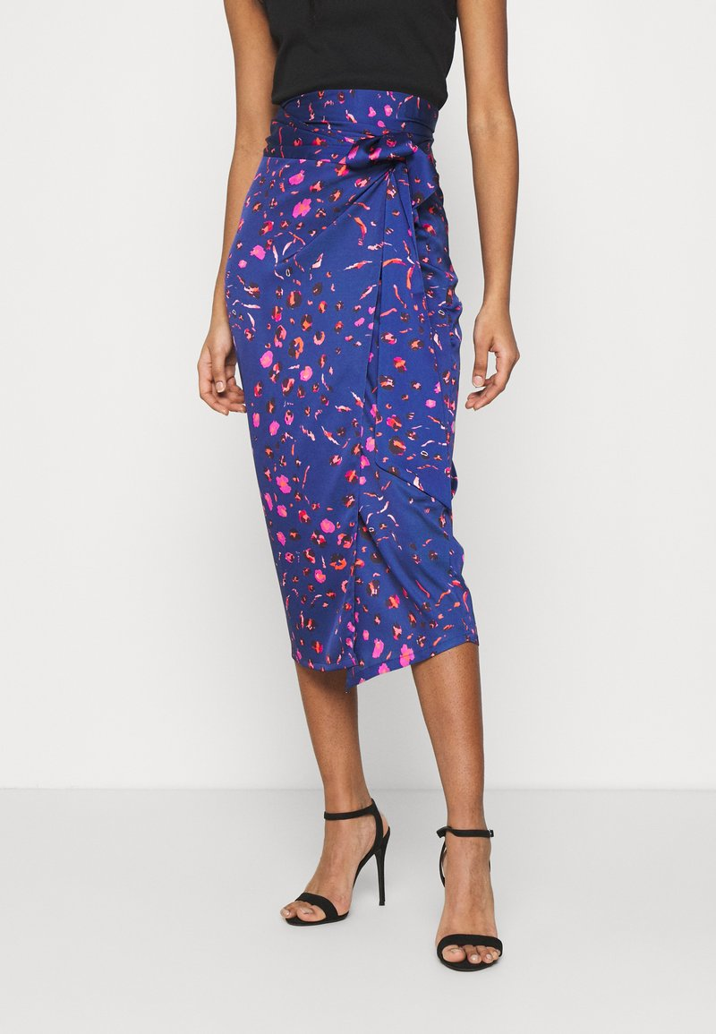 Never Fully Dressed - SPLICE FLORAL WRAP JASPRE - Pencil skirt - multi