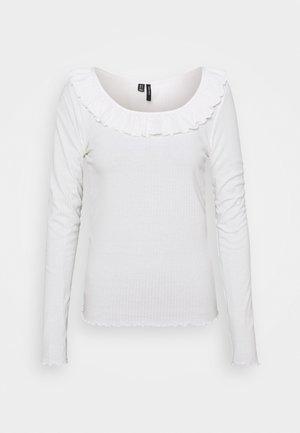 VMCLARA FRILL - Long sleeved top - snow white