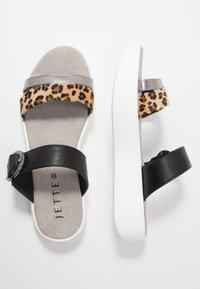 JETTE - Pantofle - brown/black - 3