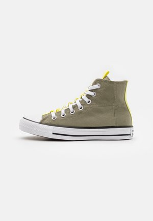 CHUCK TAYLOR ALL STAR UTILITY WEBBED UNISEX - Sneakersy wysokie - light field surplus/light zitron/black