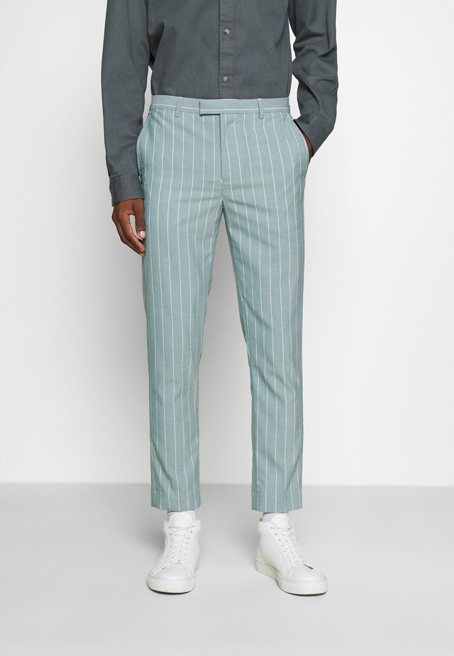 MOORE PIN STRIPE TROUSER SKINNY - Bukse - green