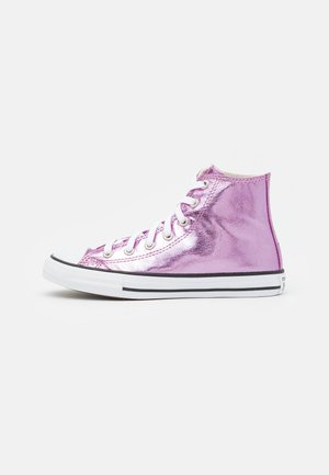 CHUCK TAYLOR ALL STAR - Korkeavartiset tennarit - pink foam/pure silver/white