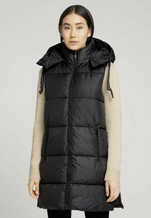 LONG MODERN  - Waistcoat - deep black