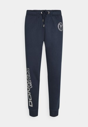 DONNAY X CARLO COLUCCI - Tracksuit bottoms - dark blue silver