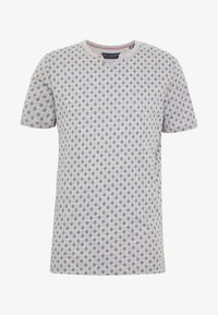 Jack & Jones PREMIUM - JPRBEN SPLIT NECK TEE - Print T-shirt - light grey melange - 3
