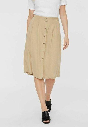 Pleated skirt - beige