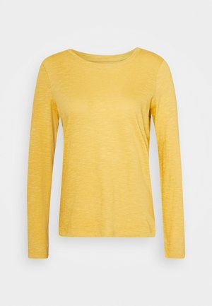 TURNED NECK - Long sleeved top - california sand yellow