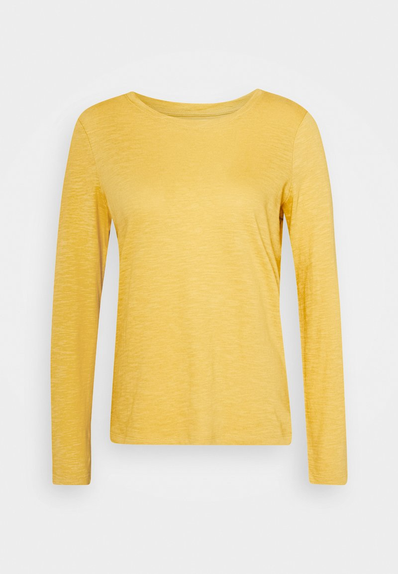 TOM TAILOR - TURNED NECK - Long sleeved top - california sand yellow