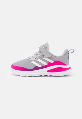 FORTARUN UNISEX - Neutral running shoes - grey two/footwear white/shock pink
