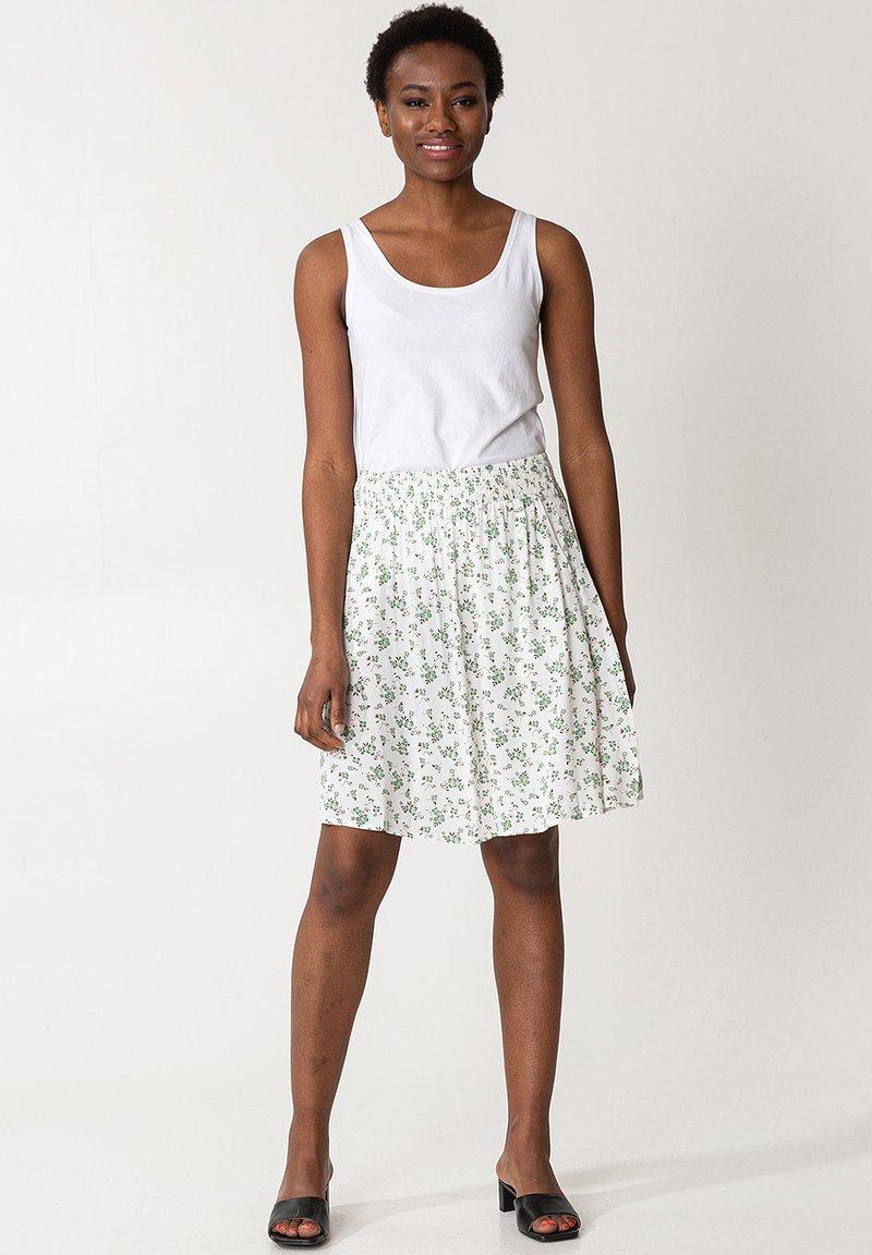 Indiska - A-line skirt - white