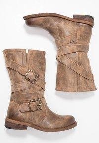 Felmini - GREDO - Cowboy/Biker boots - noumerat camel - 3