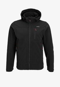 MAN ZIP HOOD JACKET - Soft shell jacket - nero