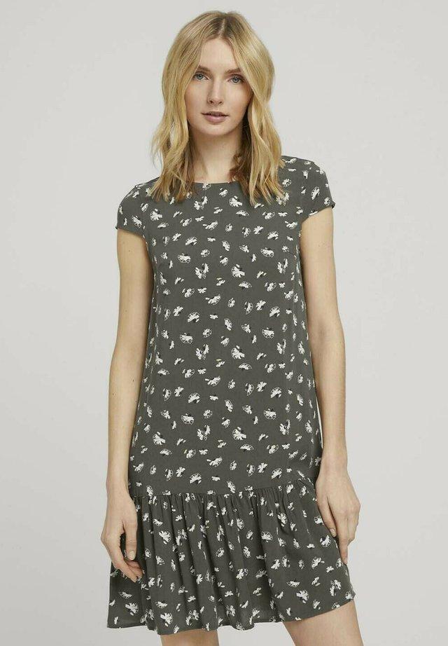 Sukienka letnia - khaki small floral design