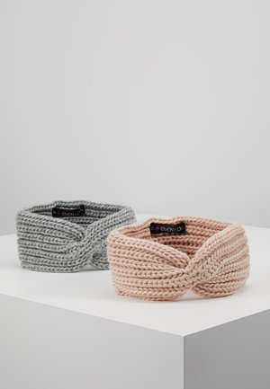 2 PACK - Ear warmers - rose/grey