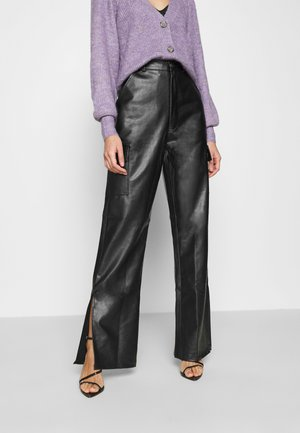 CARGO SIDE SPLIT LEG TROUSER - Pantaloni - black