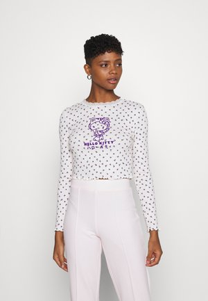 POINTELLE - Long sleeved top - purple/cream