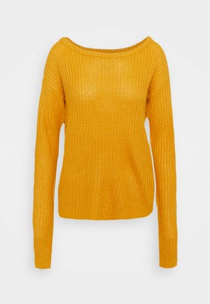 OPHELITA OFF SHOULDER JUMPER - Jumper - mustard