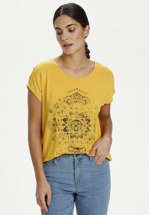 Print T-shirt - yolk yellow