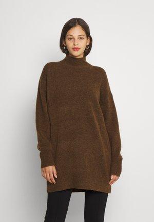 OBJNETE HIGH NECK - Pullover - sepia melange