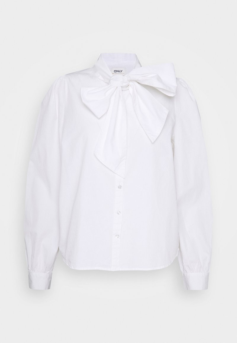 ONLY - ONLBILLIE BOW PEARL LIFE - Blouse - white