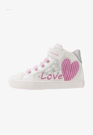 GISLI GIRL - Zapatillas altas - white/pink