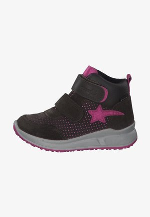 High-top trainers - braun/rosa
