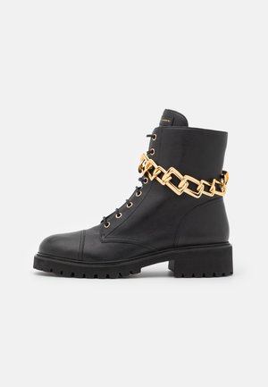 BIKER - Lace-up ankle boots - noble nero