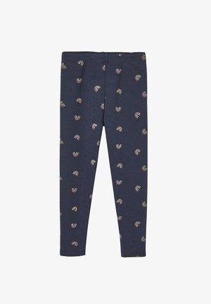 Leggings - Trousers - marine bedruckt