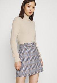 Gina Tricot - SAGA SKIRT - Mini skirt - blue - 3