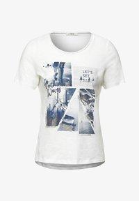 Cecil - MIT FOTOPRINT - Print T-shirt - weiß - 3