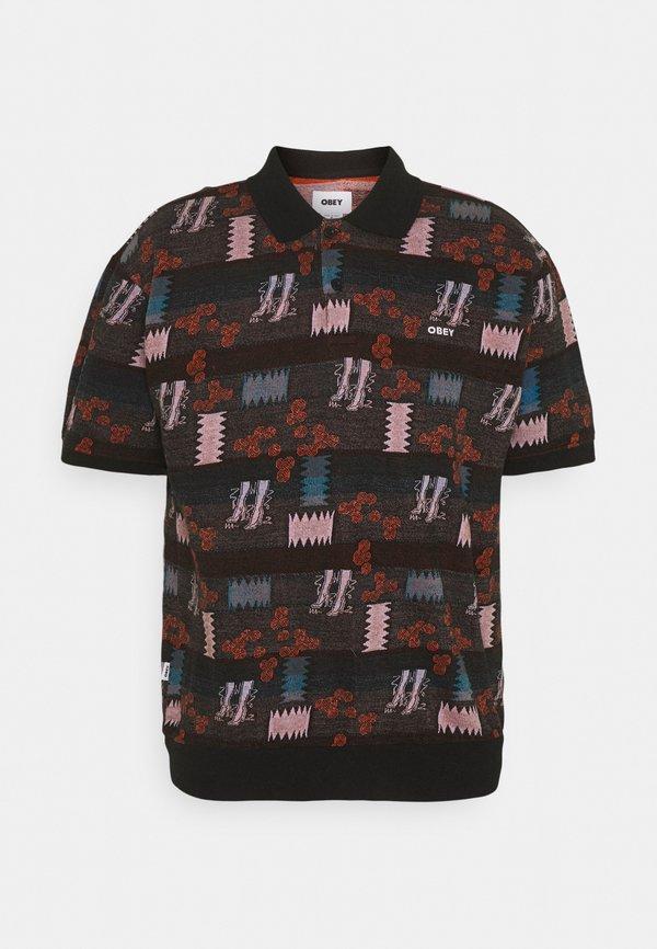 Obey Clothing EDDY - Koszulka polo - black multi/czarny Odzież Męska RAFB