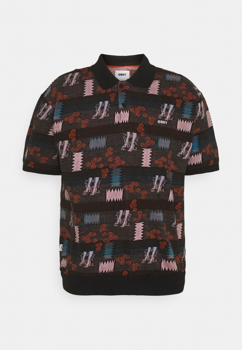 Obey Clothing - EDDY  - Polo shirt - black multi