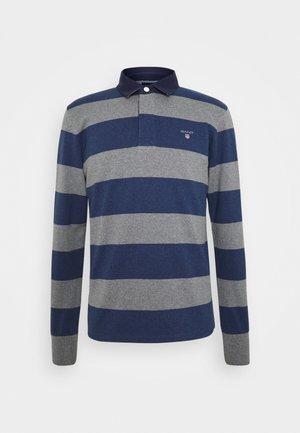ORIGINAL BARSTRIPE HEAVY RUGGER - Polo shirt - dark grey melange