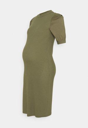 MLFREJA MIX DRESS - Jerseyjurk - deep lichen green