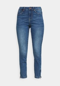 VMTILDE ANKLE ZIP JEANS - Skinny džíny - medium blue denim