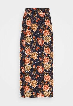 VIWAW RUA  SKIRT - Maxi skirt - navy/pink