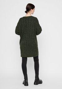 Pieces - Cardigan - dark green - 2