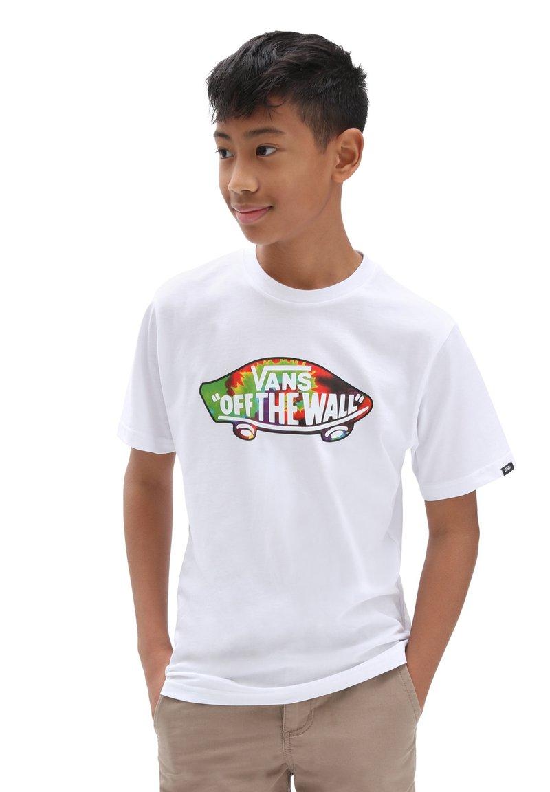 Vans - BY OTW LOGO FILL BOYS - T-shirt med print - white/spiral tie dye